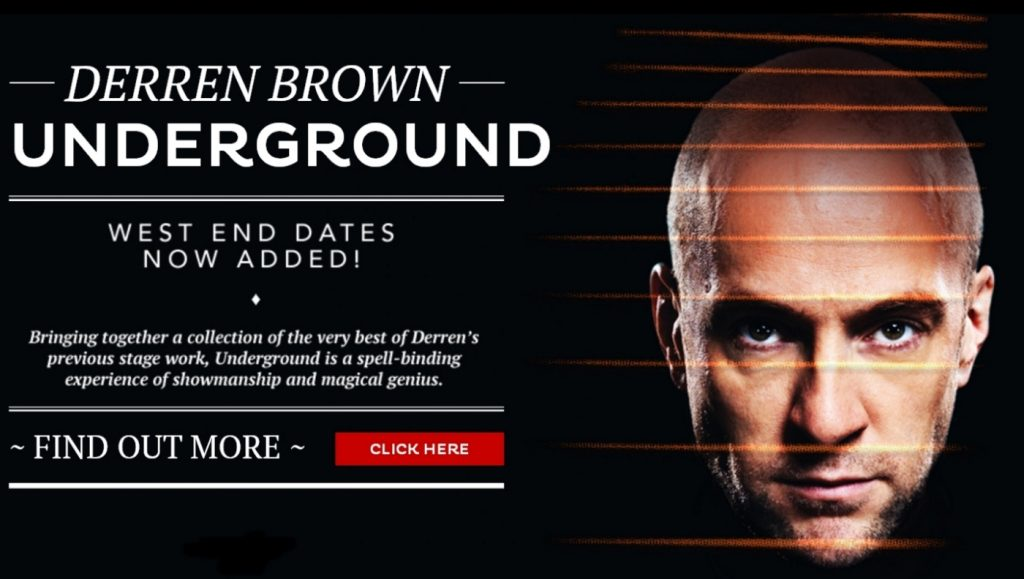 Derren Brown Underground 2017