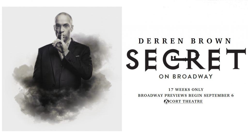 Derren Brown Secret on Broadway 2019